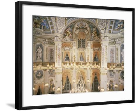 Murano Chandelier and Frescoes--Framed Art Print