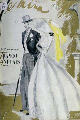 Cover of 'Femina' Magazine, June 1938--Stretched Canvas Print