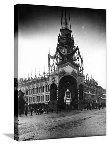 The Duma Tower Decorated for a Visit of the French President, St Petersburg, C.Early C20th--Stretched Canvas Print