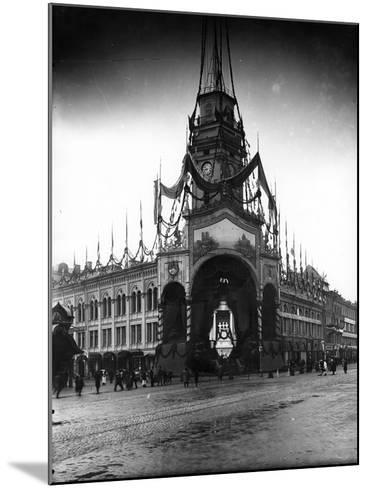 The Duma Tower Decorated for a Visit of the French President, St Petersburg, C.Early C20th--Mounted Photographic Print
