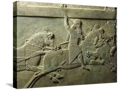 Bas-Relief Depicting Killing of Lion--Stretched Canvas Print