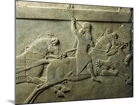Bas-Relief Depicting Killing of Lion--Mounted Giclee Print