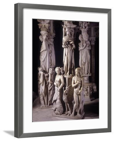 Italy, Tuscany, Pisa, Piazza Dei Miracoli, Pisa Cathedral Pulpit, Detail--Framed Art Print