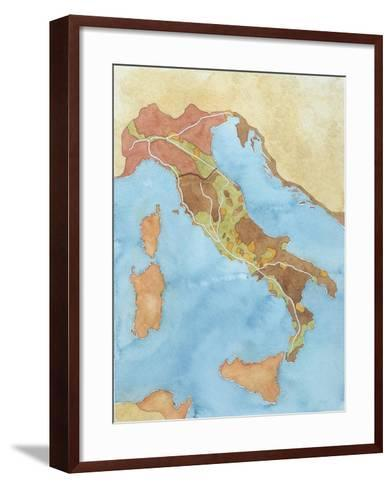 Map of Italy Illustrates Territorial Subdivisions at Outbreak of Social War, 91 BC--Framed Art Print