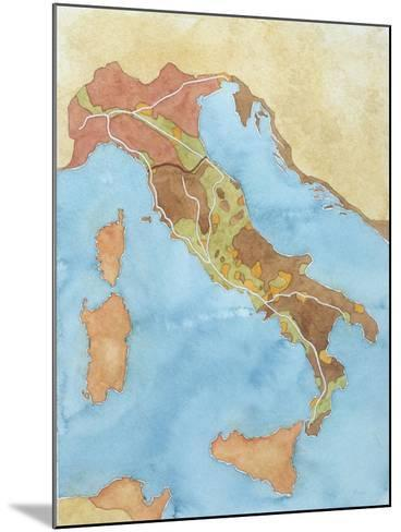 Map of Italy Illustrates Territorial Subdivisions at Outbreak of Social War, 91 BC--Mounted Giclee Print