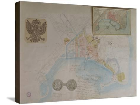 Map of Trieste, Italy--Stretched Canvas Print