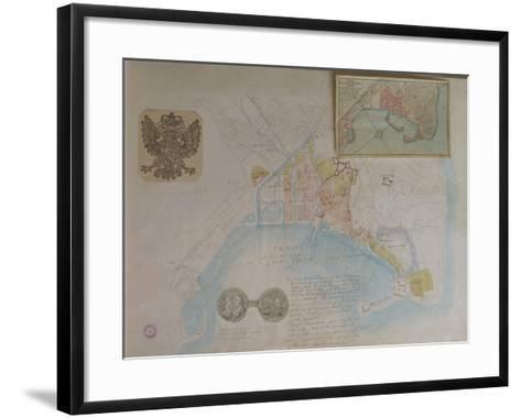 Map of Trieste, Italy--Framed Art Print