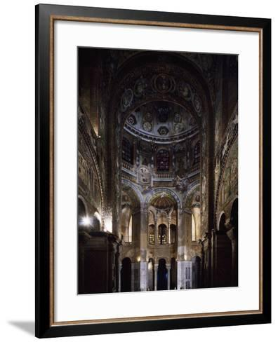 Glimpse of the Interior, Basilica of San Vitale--Framed Art Print