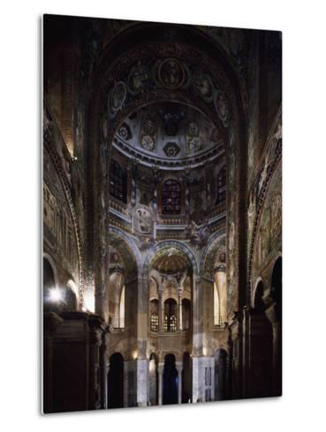 Glimpse of the Interior, Basilica of San Vitale--Metal Print