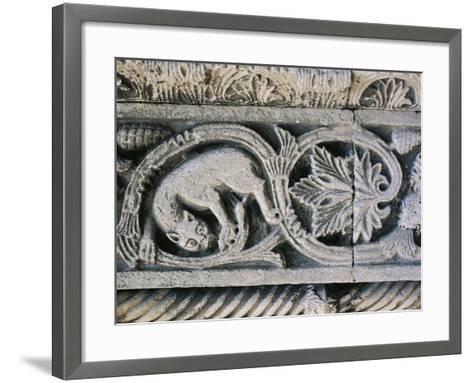 Detail from Decorative Frieze in Church of Santa Maria Della Piazza, Ancona, Italy, 11th Century--Framed Art Print