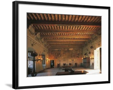 Banquet Hall of Bracciano Castle, Italy--Framed Art Print