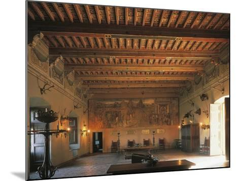 Banquet Hall of Bracciano Castle, Italy--Mounted Giclee Print