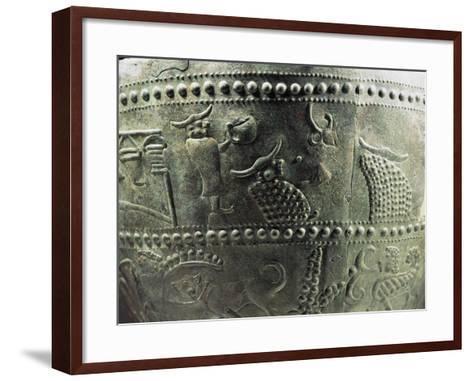 """Benvenuti"" Situla--Framed Art Print"