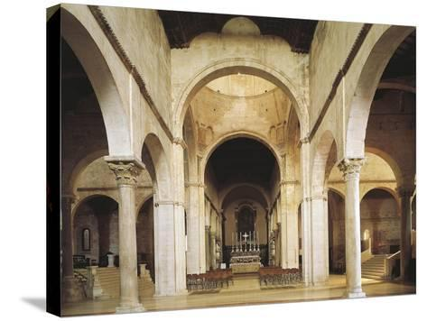 Interior of the Cathedral of San Ciriaco, Ancona, Italy, 11th-12th Century--Stretched Canvas Print