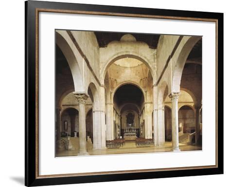 Interior of the Cathedral of San Ciriaco, Ancona, Italy, 11th-12th Century--Framed Art Print