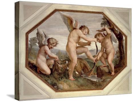 Cupids, Detail from Sala Dell'Amore--Stretched Canvas Print