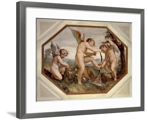 Cupids, Detail from Sala Dell'Amore--Framed Art Print