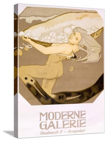 Advertisement for the Moderne Galerie, Munich, 1927--Stretched Canvas Print