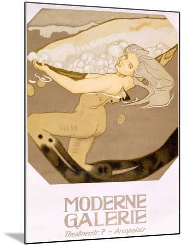 Advertisement for the Moderne Galerie, Munich, 1927--Mounted Giclee Print