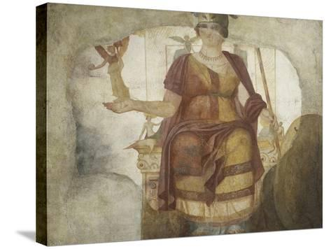 Seated Venus also known as Dea Barberini--Stretched Canvas Print