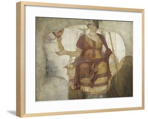 Seated Venus also known as Dea Barberini--Framed Art Print