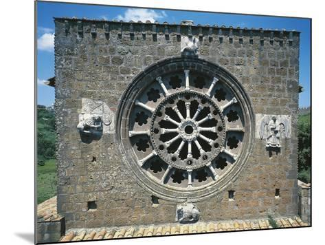 Detail from the Romanic Rose-Window in the Church of Santa Maria Maggiore, Tuscania, Italy--Mounted Giclee Print
