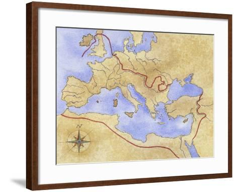 Ancient Rome, Map of Roman Empire--Framed Art Print