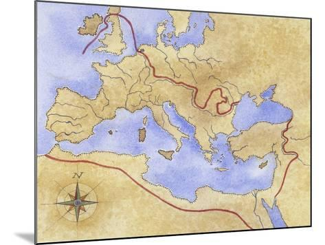 Ancient Rome, Map of Roman Empire--Mounted Giclee Print
