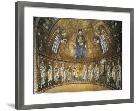 Enthroned Virgin with Archangels and Apostles, Mosaic, Apse of Santa Maria Assunta--Framed Art Print