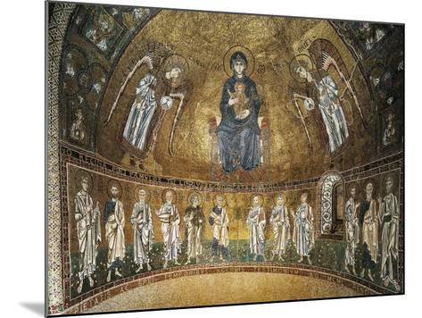 Enthroned Virgin with Archangels and Apostles, Mosaic, Apse of Santa Maria Assunta--Mounted Giclee Print