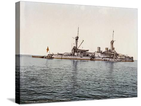 The Battleship SMS Kurfürst Friedrich Wilhelm of the German Imperial Navy, 1910--Stretched Canvas Print