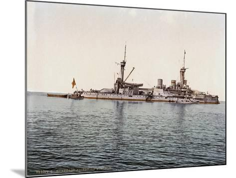 The Battleship SMS Kurfürst Friedrich Wilhelm of the German Imperial Navy, 1910--Mounted Giclee Print