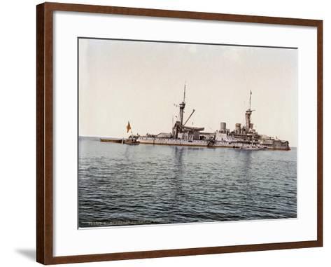 The Battleship SMS Kurfürst Friedrich Wilhelm of the German Imperial Navy, 1910--Framed Art Print