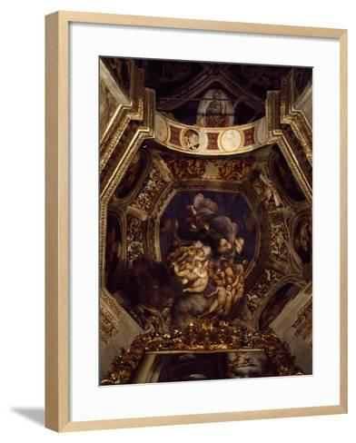 God the Father with the Angels, 1529-1530--Framed Art Print