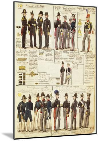 Uniforms of the Piedmontese Army from 1833--Mounted Giclee Print