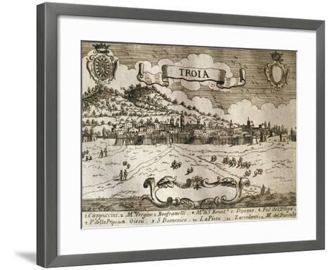 Italy, Troia, View of Troia--Framed Art Print