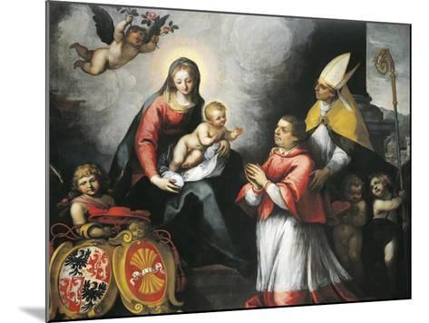 The Bishop of Trent Saint Bernardo Clesio Presented by Saint Vigil to the Virgin--Mounted Giclee Print