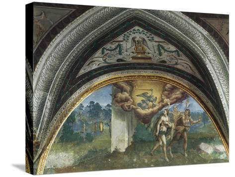 Expulsion of Adam and Eve, Hall of Creation, Palazzo Besta, Teglio, Italy--Stretched Canvas Print
