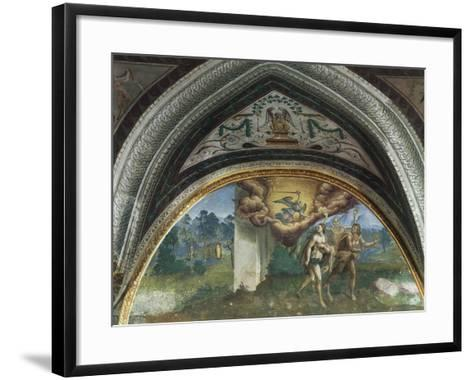 Expulsion of Adam and Eve, Hall of Creation, Palazzo Besta, Teglio, Italy--Framed Art Print