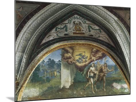 Expulsion of Adam and Eve, Hall of Creation, Palazzo Besta, Teglio, Italy--Mounted Giclee Print