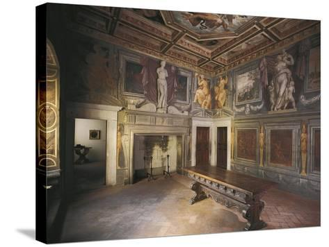 Glimpse of Fireplace Hall with Decorations by Giorgio Vasari--Stretched Canvas Print