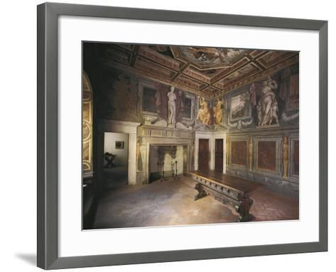 Glimpse of Fireplace Hall with Decorations by Giorgio Vasari--Framed Art Print