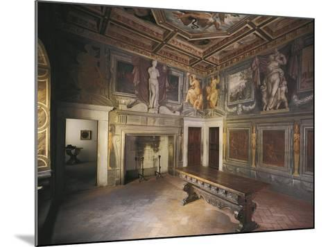 Glimpse of Fireplace Hall with Decorations by Giorgio Vasari--Mounted Giclee Print