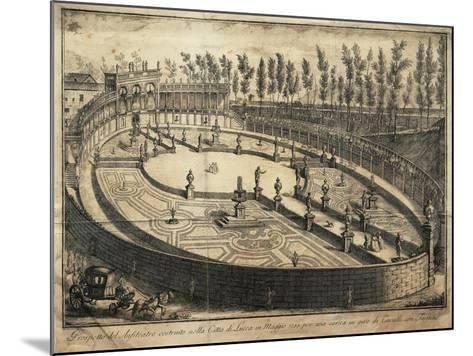 Italy, Lucca, View of the Wooden Amphitheatre Used for Horse Racing--Mounted Giclee Print
