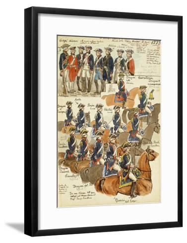 Uniforms of the Sardinian Army During the Reign of Vittorio Amedeo III, 1773--Framed Art Print
