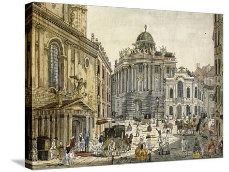 Austria, Vienna, the Old Burgtheater--Stretched Canvas Print