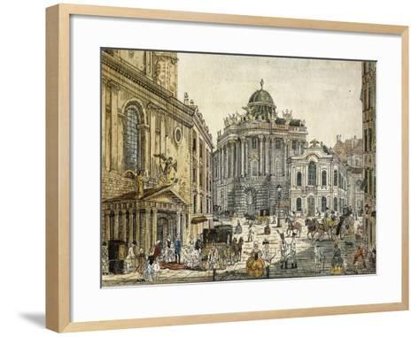 Austria, Vienna, the Old Burgtheater--Framed Art Print
