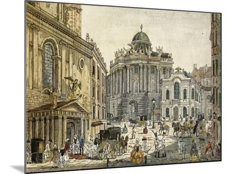 Austria, Vienna, the Old Burgtheater--Mounted Giclee Print