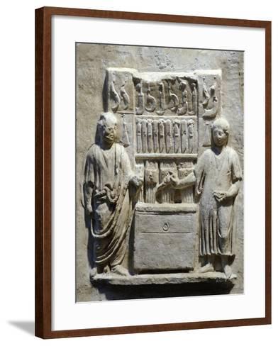 Detail of Relief Depicting Workshop of Lucius Cornelius Atimeto Knife Maker--Framed Art Print