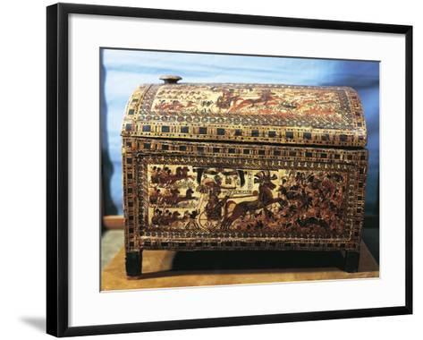Treasure of Tutankhamen, Wooden Chest with Scenes of War--Framed Art Print